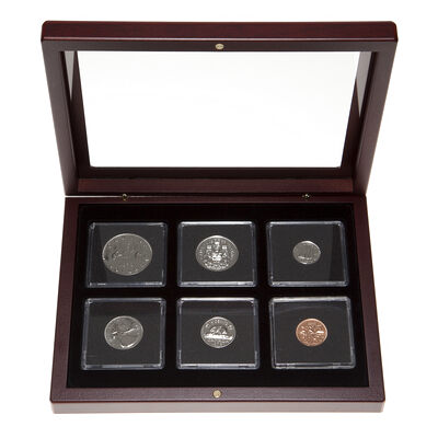 1978 Uncirculated Coin Set in Custom Mahogany Display Case