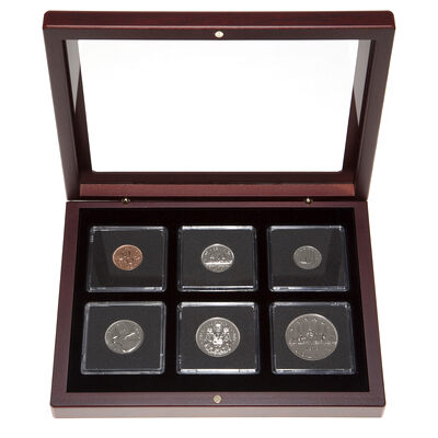 1979 Proof-Like Coin Set in Custom Mahogany Display Case