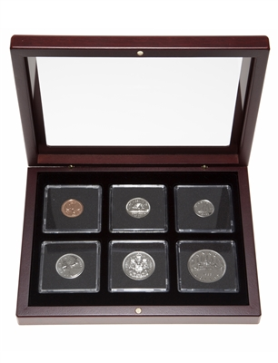 1983 Proof-Like Coin Set in Custom Mahogany Display Case