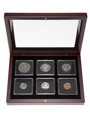 1984 Proof-Like Coin Set in Custom Mahogany Display Case
