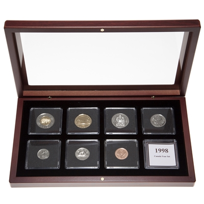 1998 Proof-Like Coin Set in Custom Mahogany Display Case