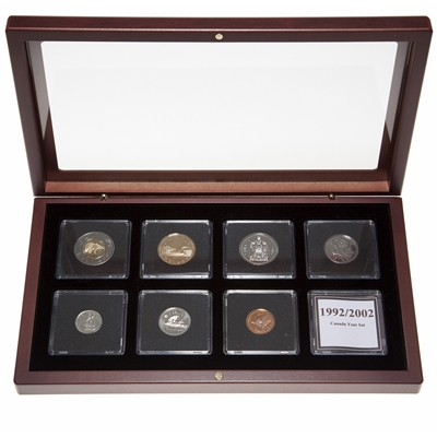 2002 Proof-Like Coin Set in Custom Mahogany Display Case