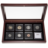 "2003 ""Old Effigy"" Proof-Like Coin Set in Custom Mahogany Display Case"