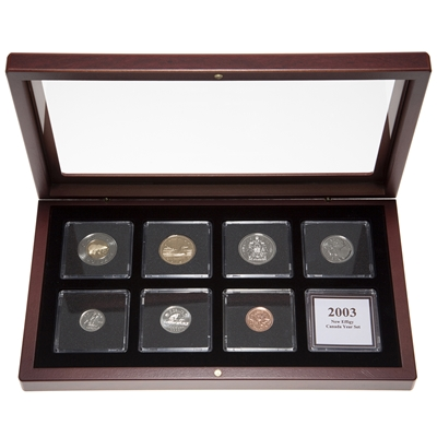 "2003 ""New Effigy"" Proof-Like Coin Set in Custom Mahogany Display Case"