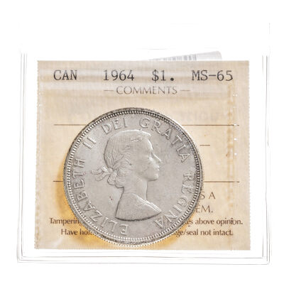 1 Dollar 1964  ICCS MS-65