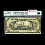 The Royal Bank of Canada $10 1913  PMG VG-10