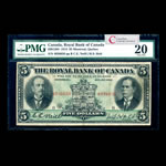 The Royal Bank of Canada $5 1913  PMG VF-20
