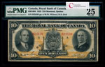 The Royal Bank of Canada $10 1933  PMG VF-25