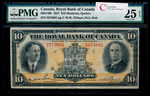 The Royal Bank of Canada $10 1927 Wilson, l. PMG VF-25