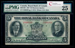 The Royal Bank of Canada $5 1927 Wilson, l. PMG VF-25