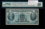 The Royal Bank of Canada $20 1935 large signatures PMG VF-30