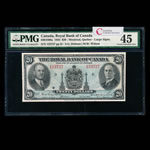 The Royal Bank of Canada $20 1935 Large signatures PMG EF-45
