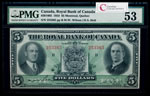 The Royal Bank of Canada $5 1933   PMG AU-53