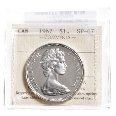 1 Dollar 1967 Cameo ICCS SP-67