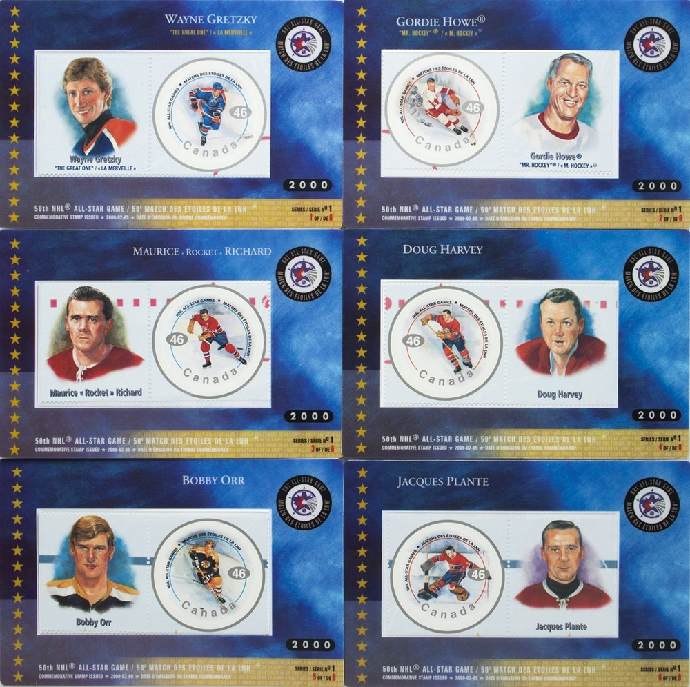 Canada Post Stamp Hockey Cards Nhl All Star Legends First Issue