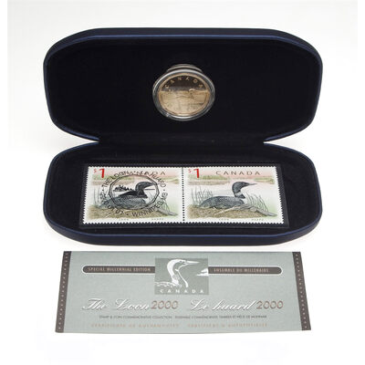2000 $1 Loon Coin & Stamp Set