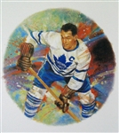 "Syl Apps 11"" x 14"" Hockey Lithograph with matching stamp"