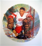 "Terry Sawchuk 11"" x 14"" Hockey Lithograph with matching stamp"