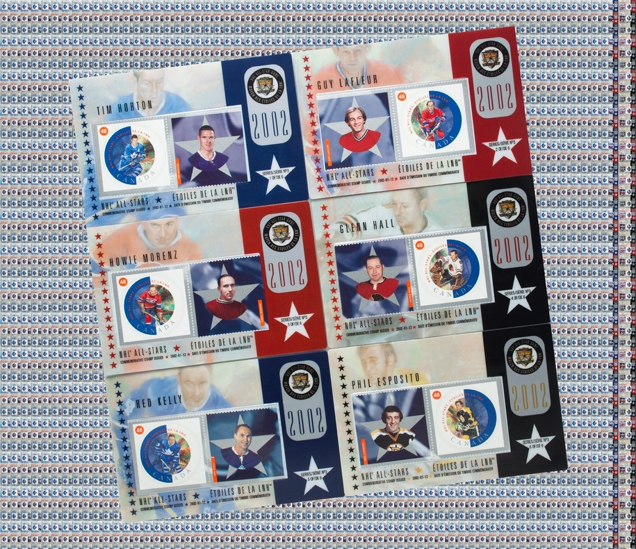 Wholesale Lot Canada Post Stamp Hockey Cards Nhl All Star Legends