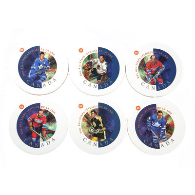 2002 NHL All Stars Six Collector Coasters