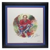 2002 NHL All-Stars Framed Autographed Lithograph and Stamp Set - Guy Lafleur