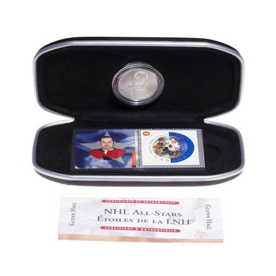 2002 NHL All-Stars Stamp and Medallion Set - Detroit Red Wings, Glenn Hall