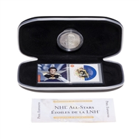 2002 NHL All-Stars Stamp and Medallion Set - Boston Bruins, Phil Esposito