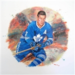 "Tim Horton 11"" x 14"" Hockey Lithograph with matching stamp"
