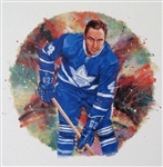 "Red Kelly 11"" x 14"" Hockey Lithograph with matching stamp"