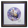 2004 NHL All-Stars Framed Autographed Lithograph and Stamp Set - Raymond Bourque