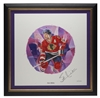 2004 NHL All-Stars Framed Autographed Lithograph and Stamp Set - Stan Mikita