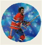 "Larry Robinson 11"" x 14"" Hockey Lithograph with matching stamp"