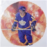 "Marcel Dionne 11"" x 14"" Hockey Lithograph with matching stamp"