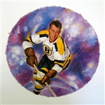 "Milt Schmidt 11"" x 14"" Hockey Lithograph with matching stamp"