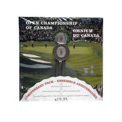100 PACK - 10c 2004 Coin - 100th Anniversary of the Canadian Open Championship