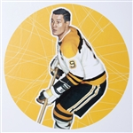 "John Bucyk 11"" x 14"" Hockey Lithograph with matching stamp"