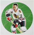 "Pierre Pilote 11"" x 14"" Hockey Lithograph with matching stamp"