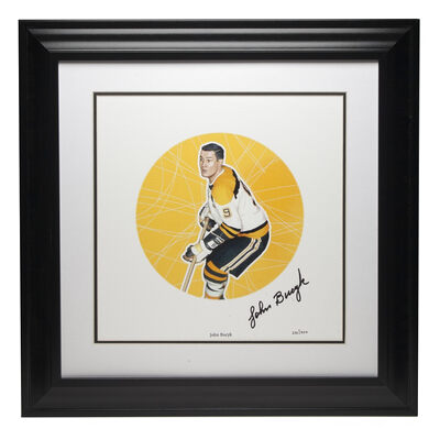 2003 NHL All-Stars Framed Autographed Lithograph and Stamp Set - John Bucyk