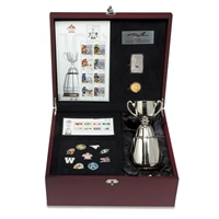 CFL Ultimate Fan Set - includes Grey Cup Loonie, 1 Ounce Fine Silver CFL bar and Replica Grey Cup