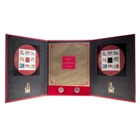 2013 Gates of Chinatown Stamp and Authentic Coin Set