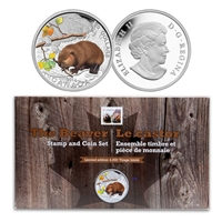 2014 $20  Limited Edition The Beaver Coin and Stamp Set
