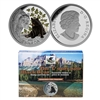 2015 $20 Fine Silver Coin and Stamp Set - Black Bear: Baby Animals