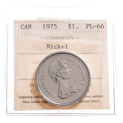 1 Dollar 1975 Nickel ICCS PL-66