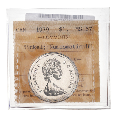 1 Dollar 1979 Numismatic BU; Nickel ICCS MS-67