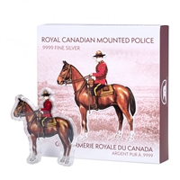 Real Shape Iconic Canada: RCMP - Pure Silver Piece