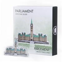 Real Shape Iconic Canada: Parliament Building - Pure Silver Piece