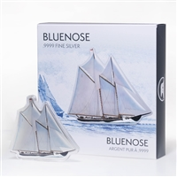 Real Shape Iconic Canada: Bluenose Schooner - Pure Silver Piece