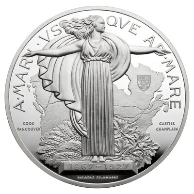 1927 Confederation Medal Re-strike - Pure Silver Piece