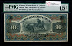 The Union Bank of Canada $10 1907  PMG F-15