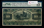 The Union Bank of Canada $10 1912 Ms. R. No. removed PMG F-15